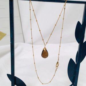 Jewelry - Smokey Topaz Pendant Necklace
